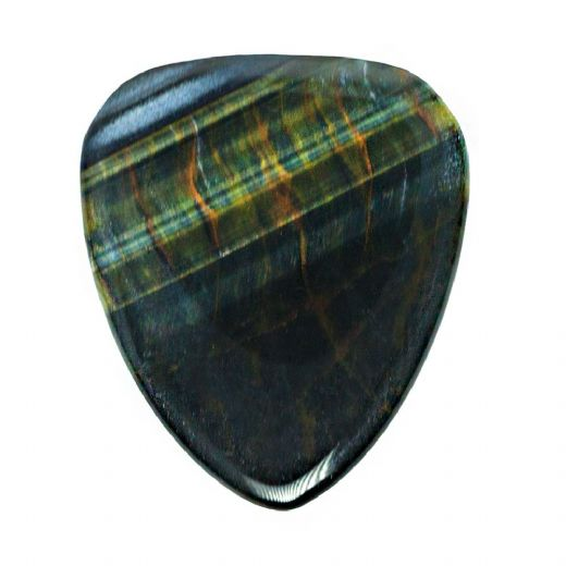 Tiger Tones Blue Tiger Eye 1 Guitar Pick